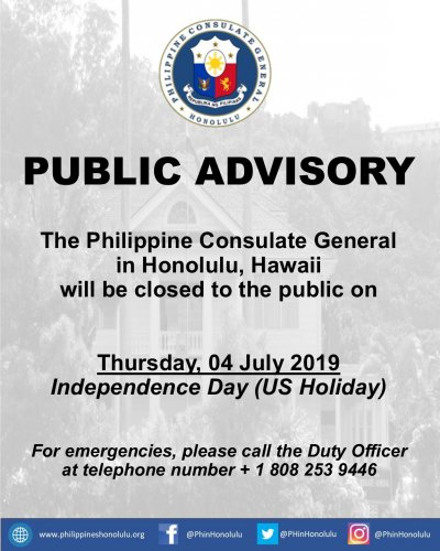 Embassy of the Philippines - NEWS AND ANNOUNCEMENTS